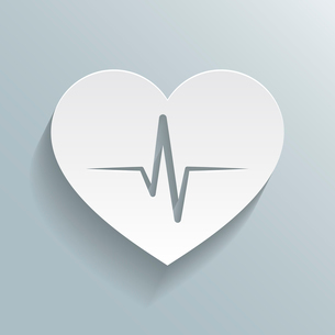 Heart beat rate icon, fitness and exercises concept vector illustrationのイラスト素材 [FYI03091098]