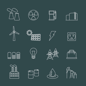 Energy power industry design elements of gas oil well and barrel isolated vector illustrationのイラスト素材 [FYI03091230]