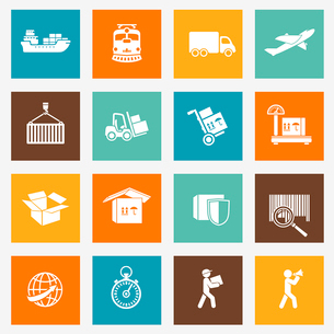 Logistic transportation services pictograms collection for web design isolated vector illustrationのイラスト素材 [FYI03091239]
