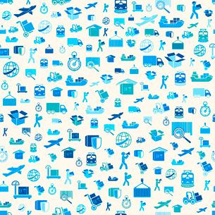 Seamless logistic transportation service pattern background vector illustrationのイラスト素材 [FYI03091247]