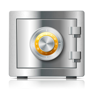 Realistic steel safe icon security concept with code lock vector illustrationのイラスト素材 [FYI03091258]