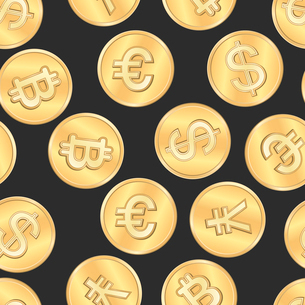Seamless money payment coins pattern background vector illustrationのイラスト素材 [FYI03091291]