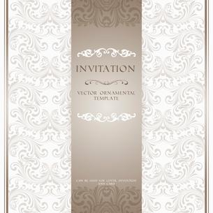 Light beige ornamental pattern invitation card or album cover template vector illustrationのイラスト素材 [FYI03091337]