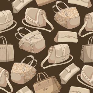 Seamless woman,s stylish bags retro pattern background vector illustrationのイラスト素材 [FYI03091346]