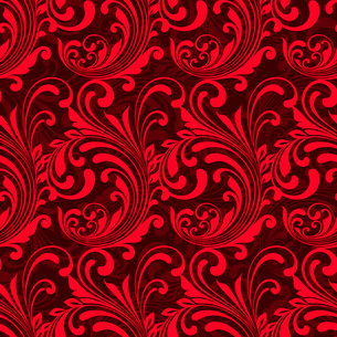 Bright red ornamental seamless pattern background vector illustrationのイラスト素材 [FYI03091352]