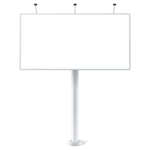 Blank outdoor billboard with place for message isolated vector illustrationのイラスト素材 [FYI03091367]