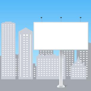 Abstract billboard on city background vector illustrationのイラスト素材 [FYI03091370]