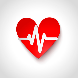 Heart rate emblem icon isolated vector illustrationのイラスト素材 [FYI03091482]
