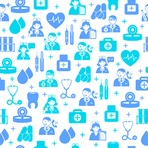 Seamless medical and healthcare pattern background vector illustrationのイラスト素材 [FYI03091600]