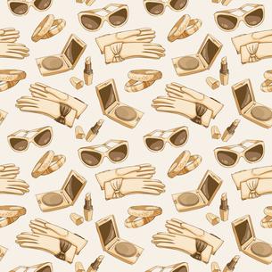Seamless women fashion accessories wallpaper pattern background vector illustrationのイラスト素材 [FYI03091619]