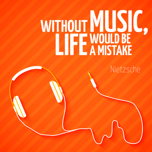 Bright headphones music wallpaper background vector illustrationのイラスト素材 [FYI03091632]