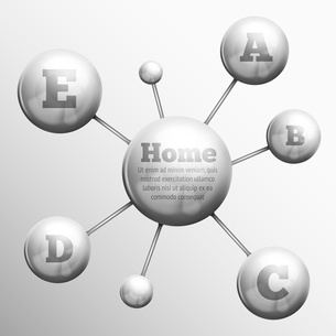 Atomic 3d structure molecular model set of silver metal spheres with bonds concept vector illustratiのイラスト素材 [FYI03091691]
