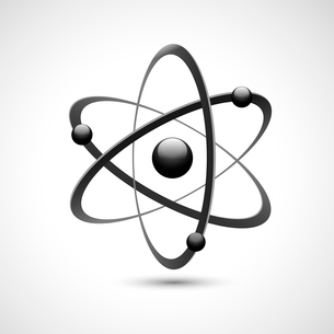 Atom 3d abstract physics science model symbol vector illustrationのイラスト素材 [FYI03091699]