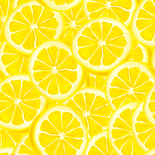 Seamless riped juicy sliced lemons pattern background vector illustrationのイラスト素材 [FYI03091732]