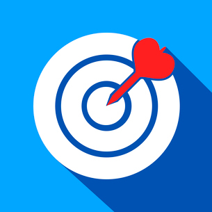 Dart in the dartboard center icon isolated vector illustrationのイラスト素材 [FYI03091748]