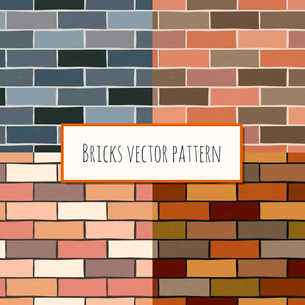 Seamless old grunge and mixed color classic brick blocks wall pattern vector illustrationのイラスト素材 [FYI03091785]