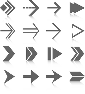Black arrows symbols pictograms set isolated vector illustrationのイラスト素材 [FYI03091816]