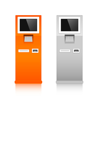 Information terminals interactive touch screen service print template vector illustrationのイラスト素材 [FYI03091866]