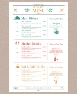 Elegant restaurant menu list with decorative elements vector illustrationのイラスト素材 [FYI03091880]