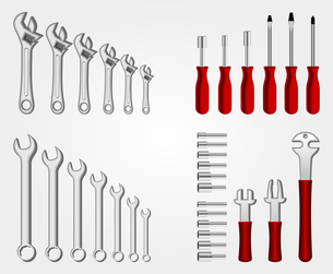 Auto service tool set collection design background poster template vector illustrationのイラスト素材 [FYI03092027]