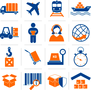 Logistic service and shipping icons set of delivery and supply vector illustrationのイラスト素材 [FYI03092116]