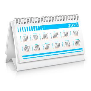 Spiral desk business office calendar planner mockup vector illustrationのイラスト素材 [FYI03092221]
