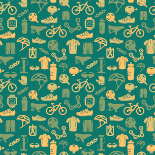 Bicycle bike sport fitness seamless pattern background vector illustrationのイラスト素材 [FYI03092493]