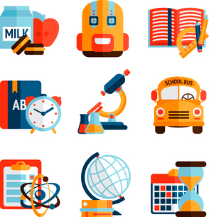 Education knowledge science college and school icons set isolated vector illustrationのイラスト素材 [FYI03092619]