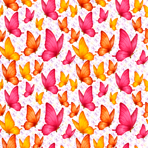 Colorful romantic butterflies decoration seamless pattern vector illustrationのイラスト素材 [FYI03092629]