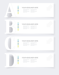 Abstract infographics  Option Banners Set. Vector illustration. Can be used for workflow layout, diaのイラスト素材 [FYI03092681]