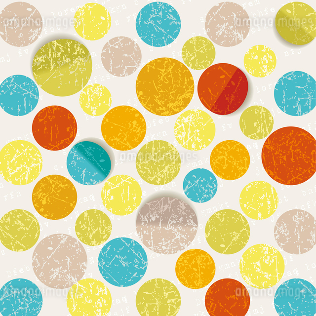 retro circle pattern backgroundのイラスト素材 [FYI03092695]