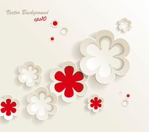 seamless pattern of flower stickers, vector backgroundのイラスト素材 [FYI03092706]