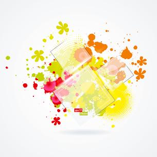 Vector paint splat with glass. Vector paint splatのイラスト素材 [FYI03092708]