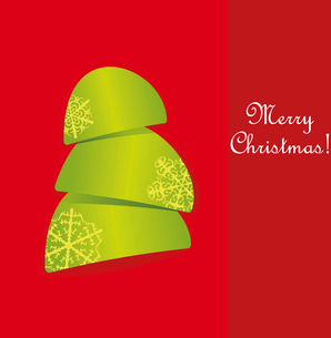 Creative Christmas tree formed from curled corner paper. Vector Illustration. . Creative Christmas tのイラスト素材 [FYI03092720]