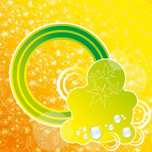 Autumn orange and green falling leaves background . Vector design.. Autumn design.のイラスト素材 [FYI03092735]