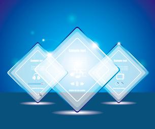 Eps10 glass transparent web boxのイラスト素材 [FYI03092761]