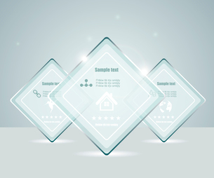 Eps10 glass transparent web boxのイラスト素材 [FYI03092762]
