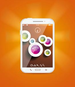 Touchscreen smartphoneのイラスト素材 [FYI03092766]