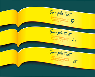 Vector bright yellow banners or ribbons setのイラスト素材 [FYI03092767]