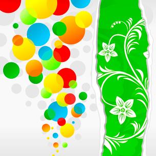 Spring balls. Background cheerful multi-coloured balls. A vector illustrationのイラスト素材 [FYI03092782]