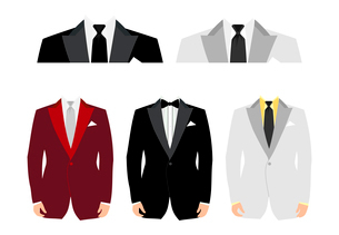 Suit. Suits for an insert of the person. A vector illustrationのイラスト素材 [FYI03092787]