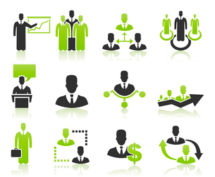 Set users for business. A vector illustrationのイラスト素材 [FYI03092809]