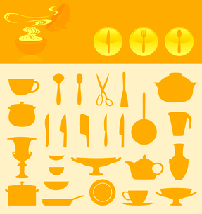 Ware icons. Set of icons of ware. A vector illustrationのイラスト素材 [FYI03092817]