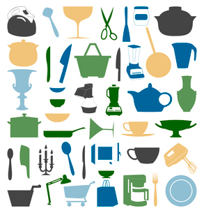 Ware icons3. Set of icons of ware. A vector illustrationのイラスト素材 [FYI03092819]