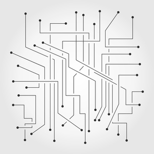 The electronic scheme. A vector illustrationのイラスト素材 [FYI03092836]