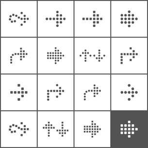 Set of icons of dotted cages. A vector illustrationのイラスト素材 [FYI03092845]