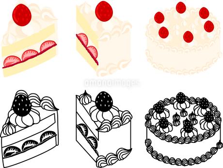 ショートケーキの可愛いアイコンのイラスト素材 [FYI03092849]