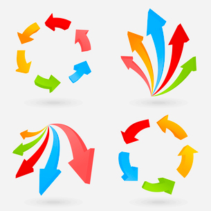 Collection of arrows for web design. A vector illustrationのイラスト素材 [FYI03092854]