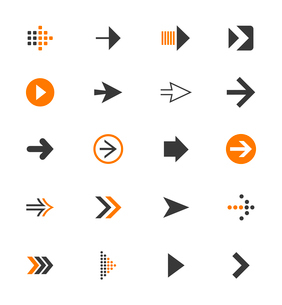 Collection of arrows for web design. A vector illustrationのイラスト素材 [FYI03092855]