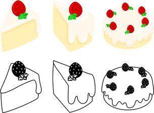 シフォンケーキの可愛いアイコンのイラスト素材 [FYI03092858]